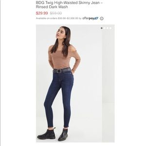 BDG Twig High-Waisted Skinny Jean - 25 NWT